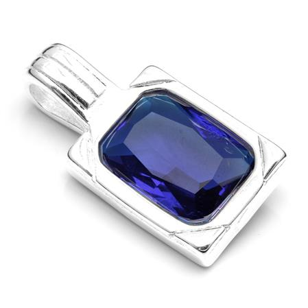 DIJE RECTANGULAR CUBIC AZUL 17MM