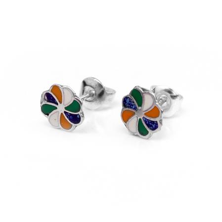AROS FLOR MULTICOLOR 7MM