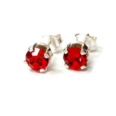 AROS ROJO ENGARZADO 6MM