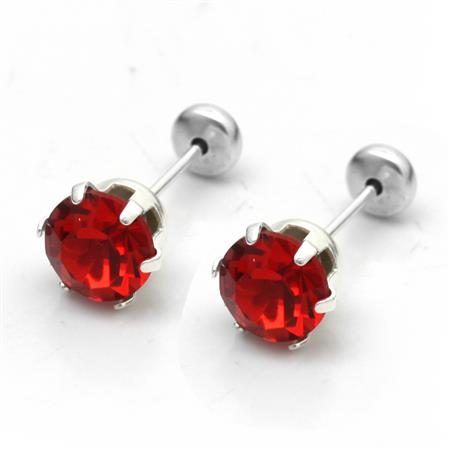 ABRIDORES STRASS ROJO 6MM