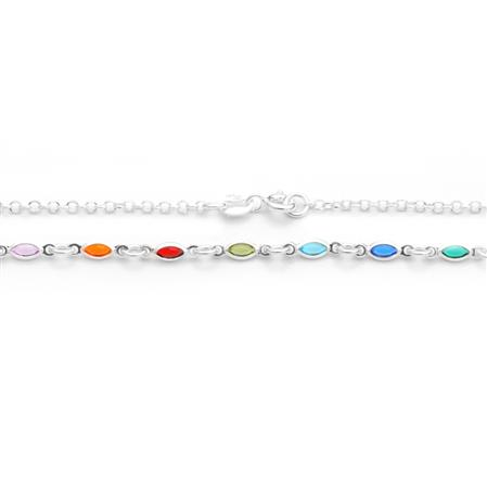 COLLAR GOTAS CUBIC MULTICOLOR 45CM