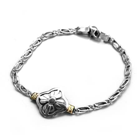 PULSERA PANTHER FINA CON FLOR 18CM