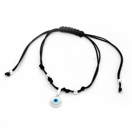 PULSERA OJO NACAR Y BOLITAS - REGULABLE