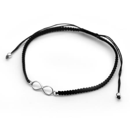 PULSERA INFINITO NEGRO - REGULABLE