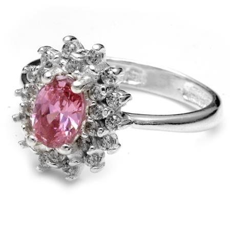 ANILLO FLOR CUBIC ROSA Y MICRO PAVE