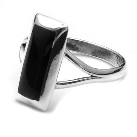 ANILLO RECTANGULAR NEGRO