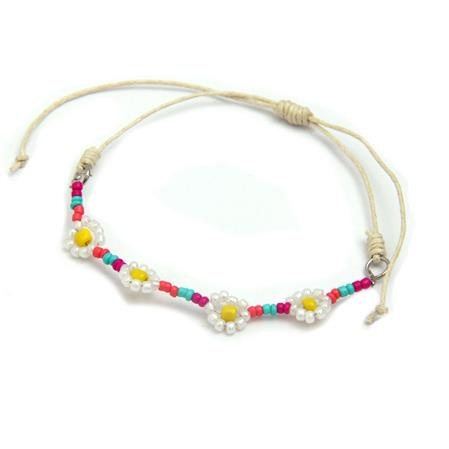 PULSERA FLORES - REGULABLE